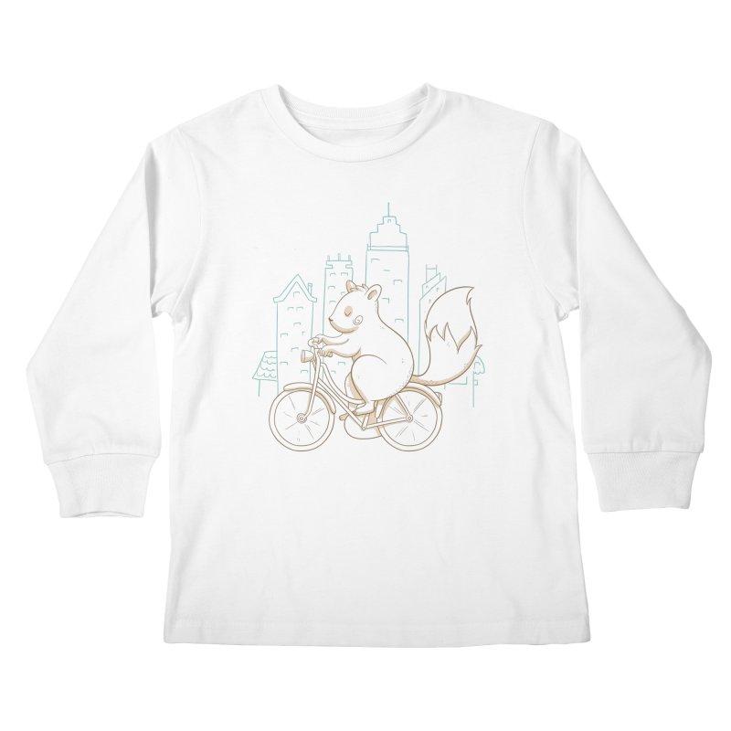 SERENE SQUIRREL Kids Longsleeve T-Shirt by Alpacaramba!