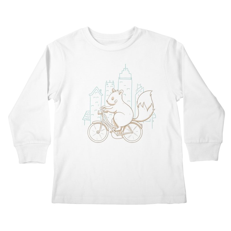SERENE SQUIRREL Kids Longsleeve T-Shirt by Alpacaramba!