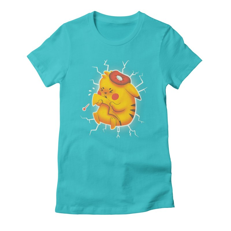 PIKACHOO!!! Women's Fitted T-Shirt by Alpacaramba!