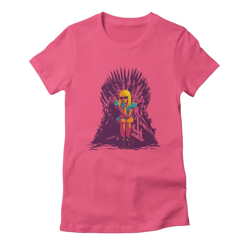 QUEEN OF POP Women's Fitted T-Shirt by Alpacaramba!