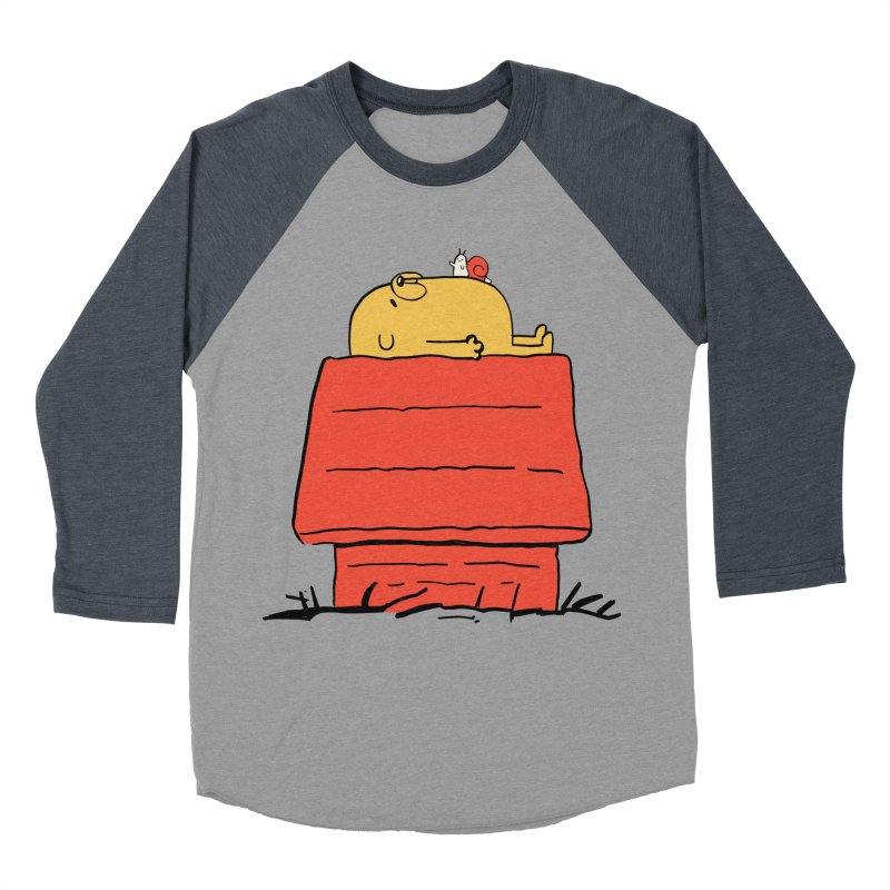 SNOOPY TIME! Women's Baseball Triblend T-Shirt by Alpacaramba!