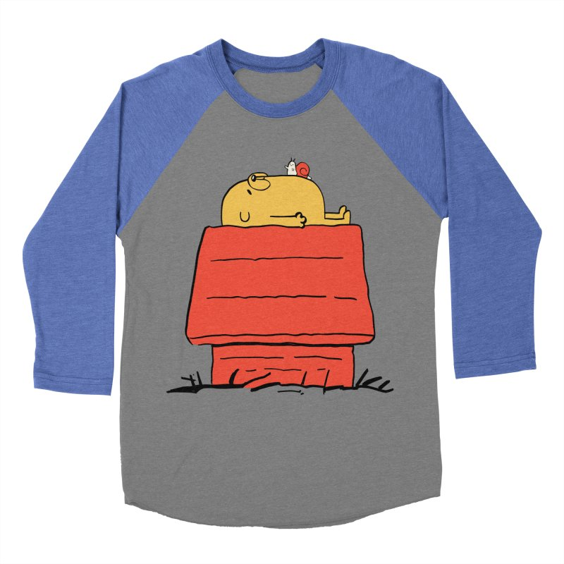 SNOOPY TIME! Men's Baseball Triblend Longsleeve T-Shirt by Alpacaramba!