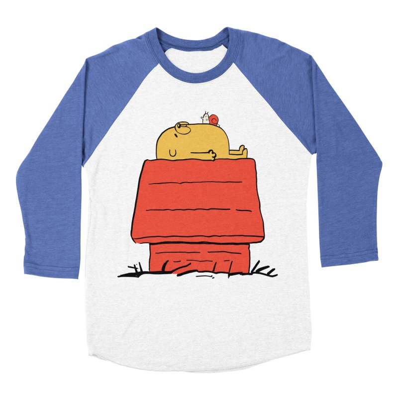 SNOOPY TIME! Men's Baseball Triblend T-Shirt by Alpacaramba!