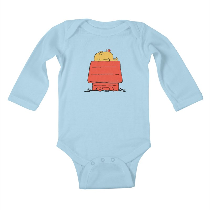SNOOPY TIME! Kids Baby Longsleeve Bodysuit by Alpacaramba!