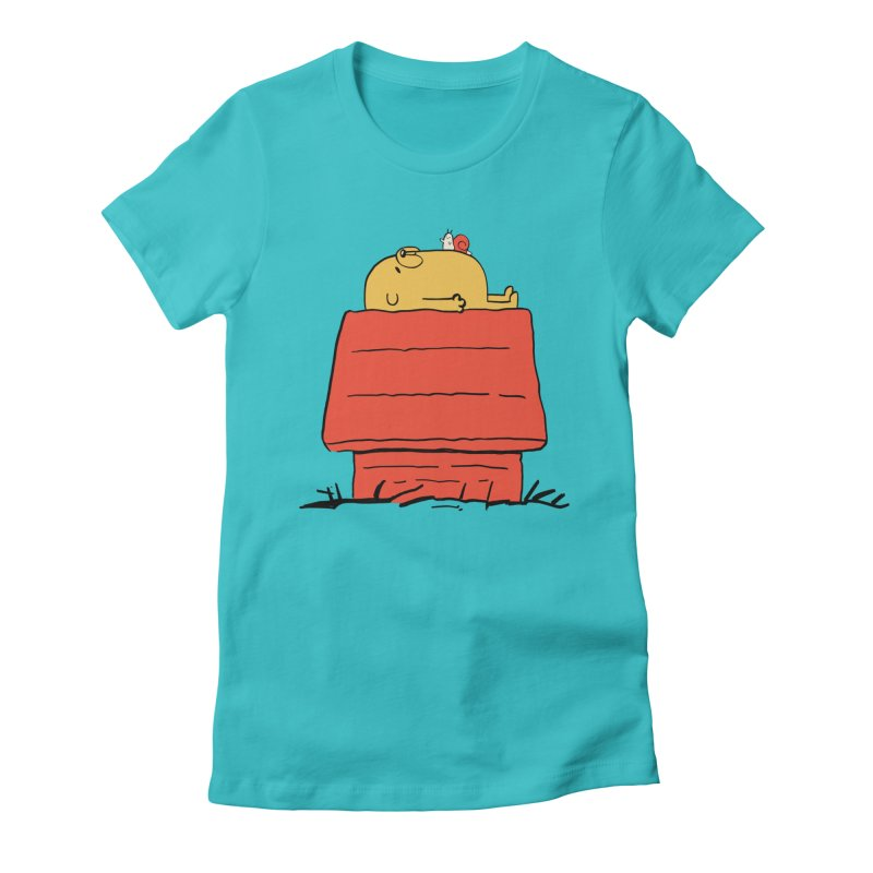 SNOOPY TIME! Women's Fitted T-Shirt by Alpacaramba!