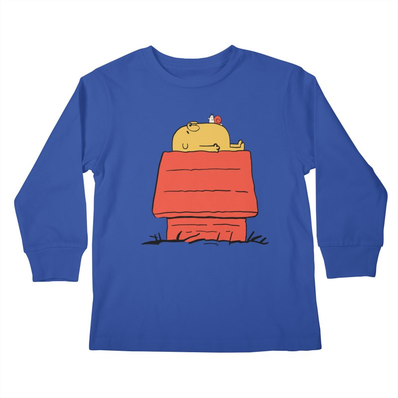 SNOOPY TIME! Kids Longsleeve T-Shirt by Alpacaramba!