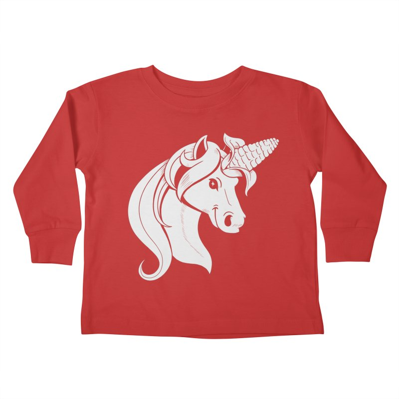 UNICORN Kids Toddler Longsleeve T-Shirt by Alpacaramba!