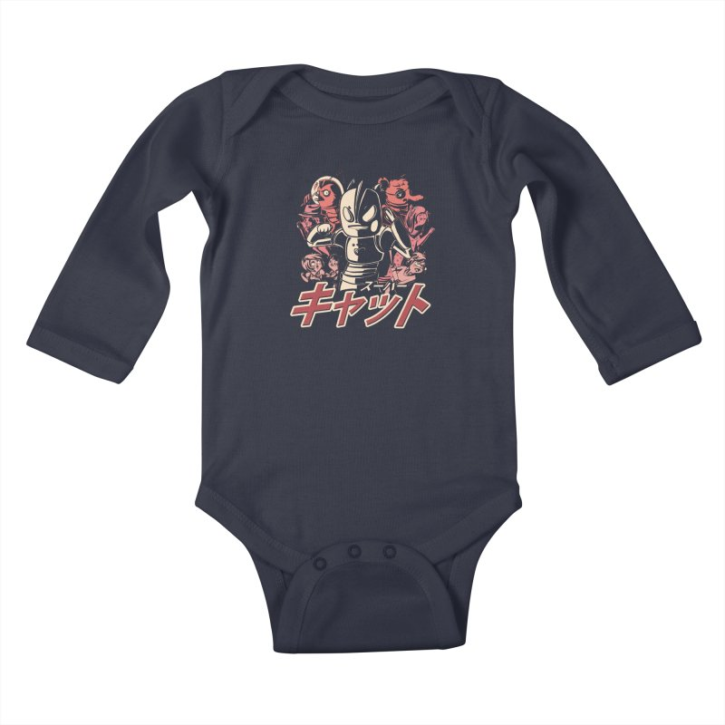 SUPER CAT Kids Baby Longsleeve Bodysuit by Alpacaramba!