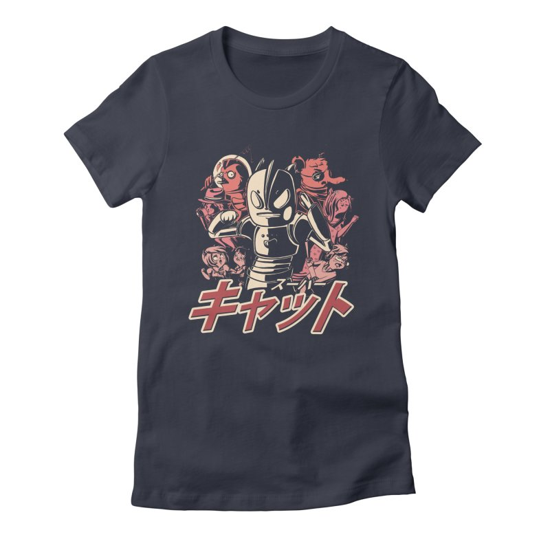 SUPER CAT Women's Fitted T-Shirt by Alpacaramba!