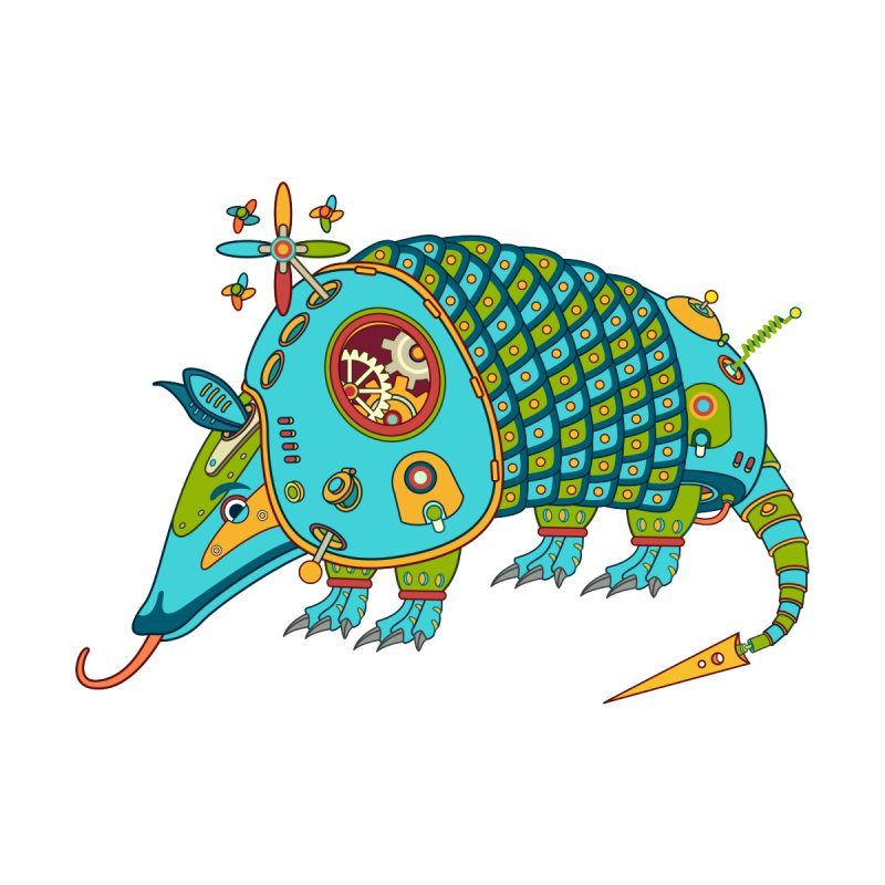 Armadillo, cool art from the AlphaPod Collection Kids Toddler Zip-Up Hoody by AlphaPod