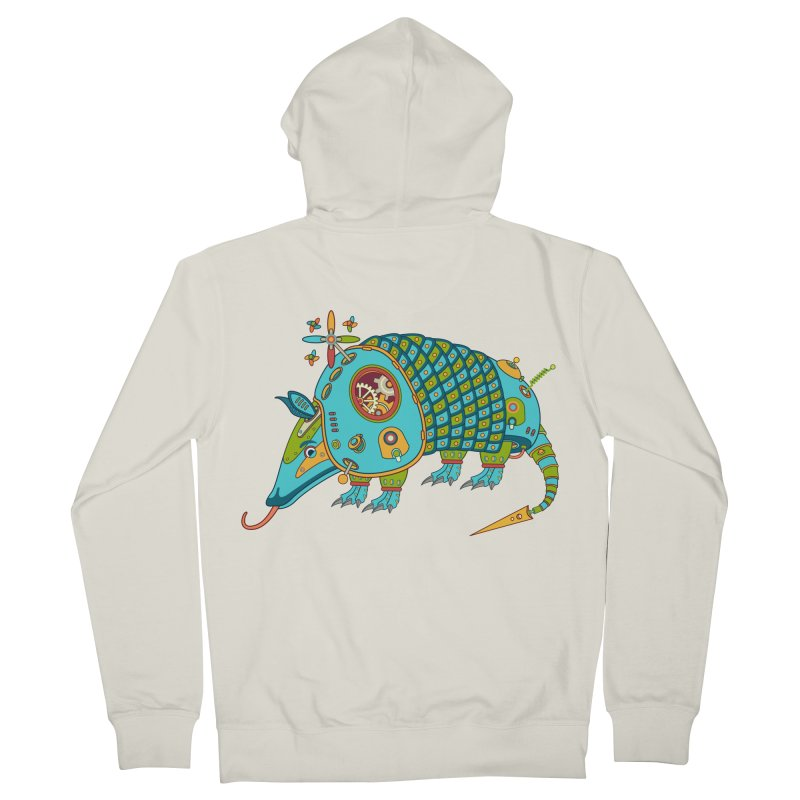 Armadillo, cool art from the AlphaPod Collection Men's Zip-Up Hoody by AlphaPod