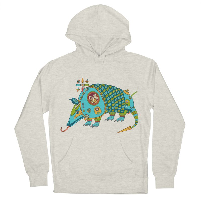 Armadillo, cool art from the AlphaPod Collection Women's French Terry Pullover Hoody by AlphaPod