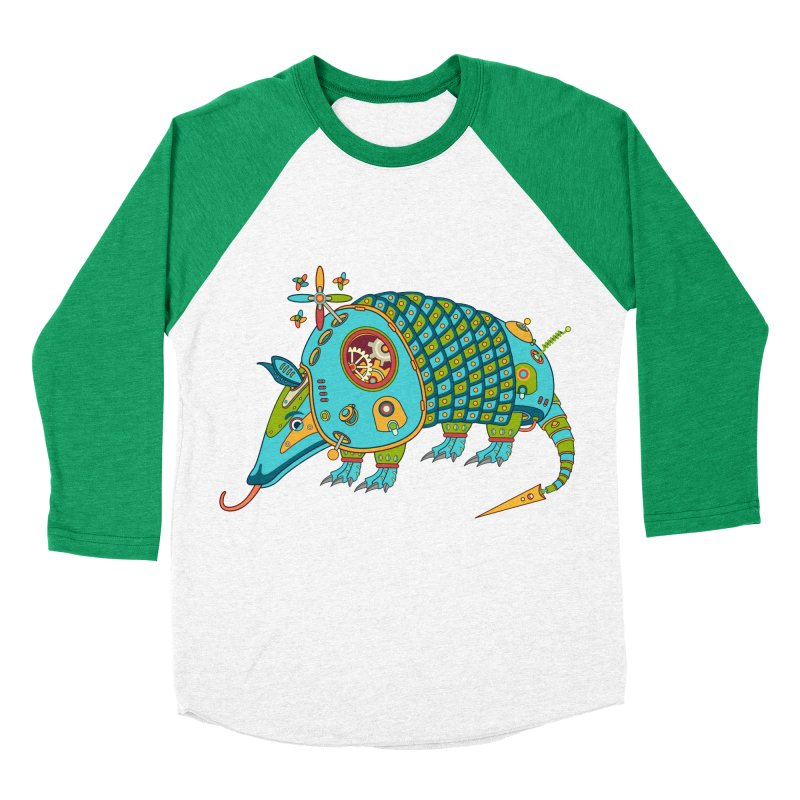 Armadillo, cool art from the AlphaPod Collection Women's Baseball Triblend Longsleeve T-Shirt by AlphaPod
