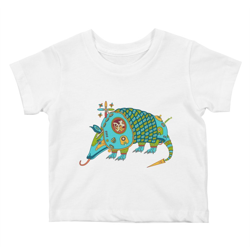 Armadillo, cool art from the AlphaPod Collection Kids Baby T-Shirt by AlphaPod