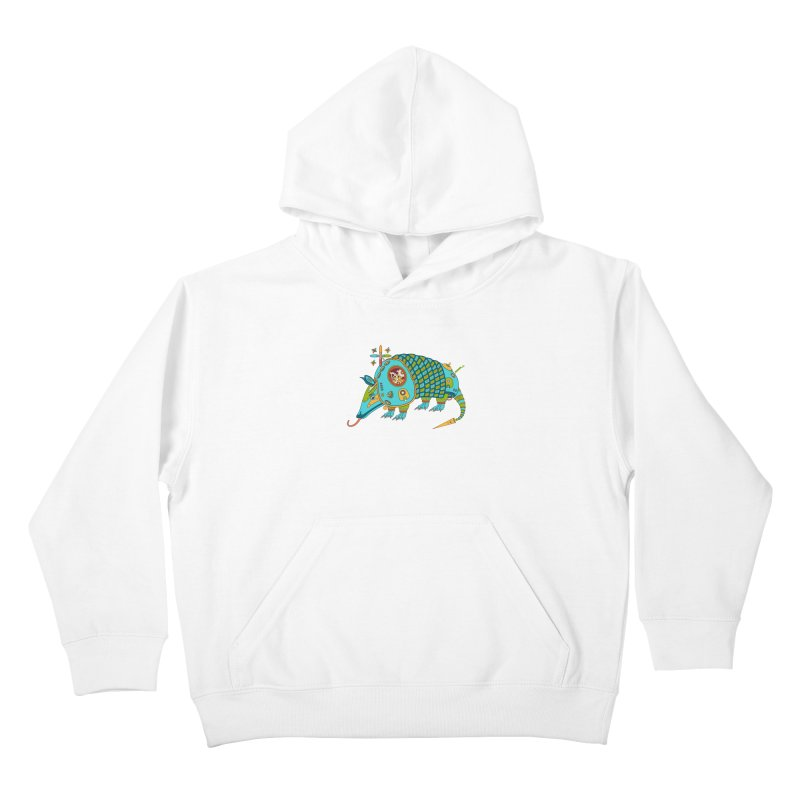 Armadillo, cool art from the AlphaPod Collection Kids Pullover Hoody by AlphaPod