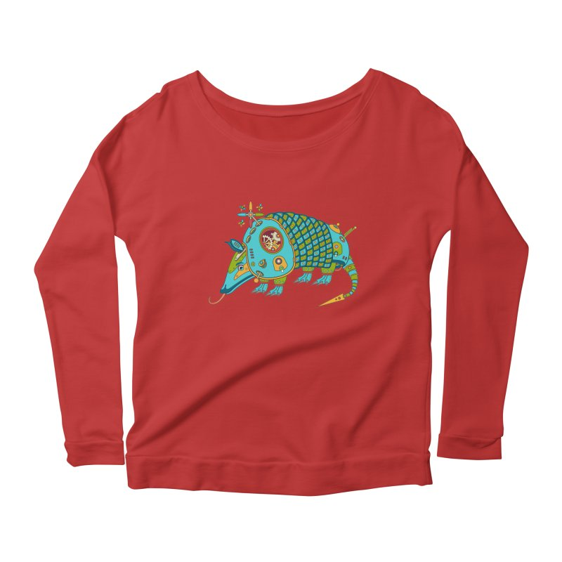 Armadillo, cool art from the AlphaPod Collection Women's Scoop Neck Longsleeve T-Shirt by AlphaPod