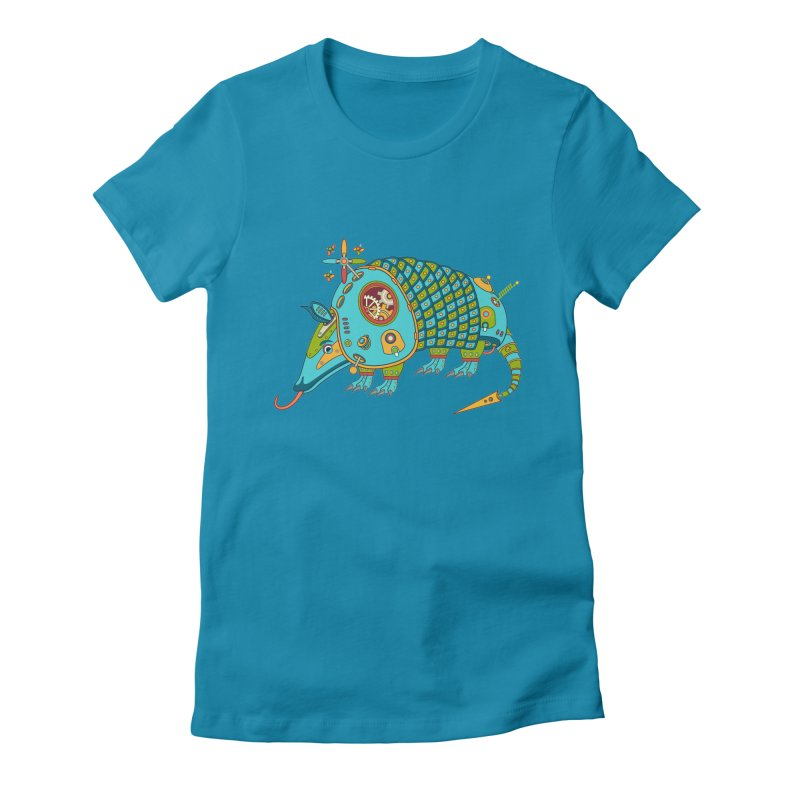 Armadillo, cool art from the AlphaPod Collection Women's Fitted T-Shirt by AlphaPod