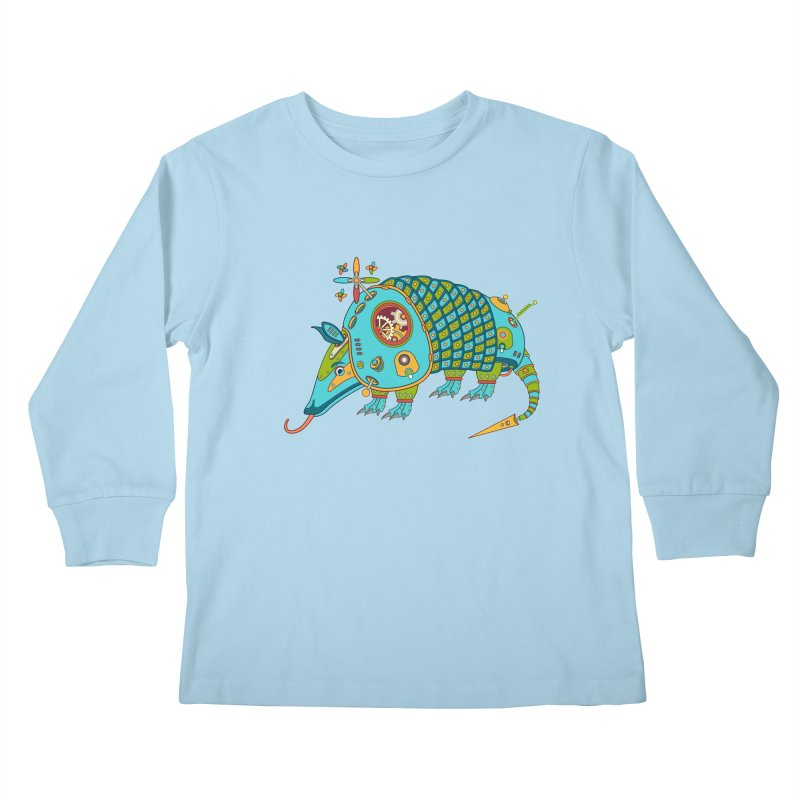 Armadillo, cool art from the AlphaPod Collection Kids Longsleeve T-Shirt by AlphaPod