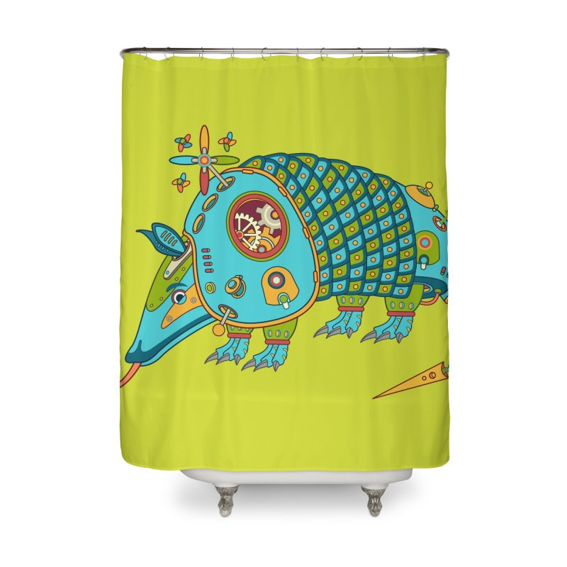 Armadillo, cool art from the AlphaPod Collection Home Shower Curtain by AlphaPod