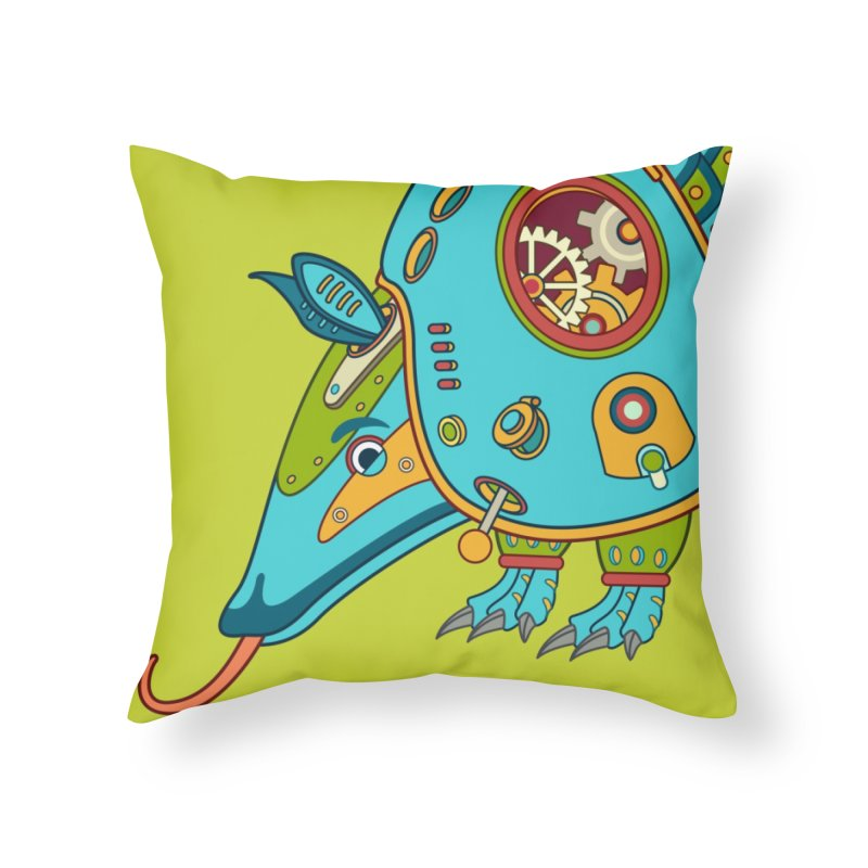 Armadillo, cool art from the AlphaPod Collection Home Throw Pillow by AlphaPod