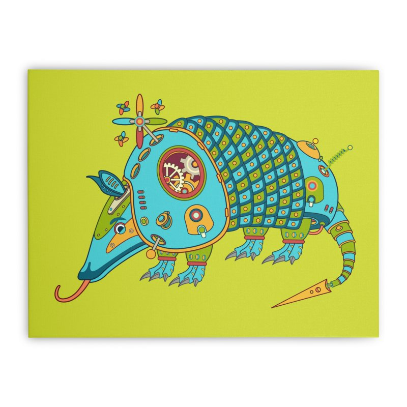 Armadillo, cool art from the AlphaPod Collection Home Stretched Canvas by AlphaPod