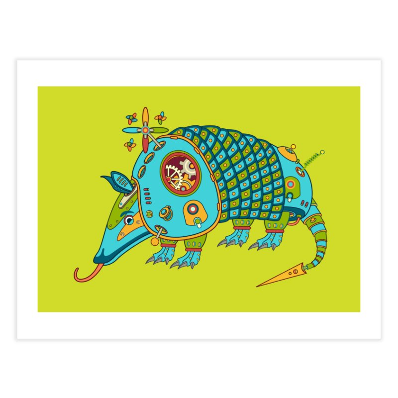 Armadillo, cool art from the AlphaPod Collection Home Fine Art Print by AlphaPod