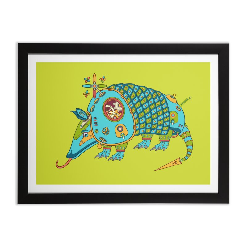 Armadillo, cool art from the AlphaPod Collection Home Framed Fine Art Print by AlphaPod