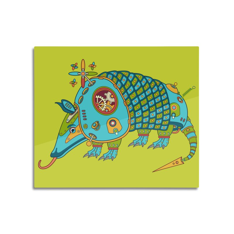Armadillo, cool art from the AlphaPod Collection Home Mounted Aluminum Print by AlphaPod