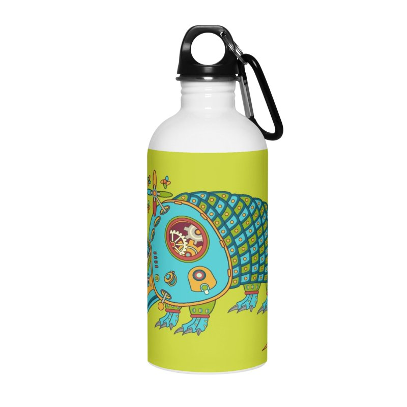 Armadillo, cool art from the AlphaPod Collection Accessories Water Bottle by AlphaPod
