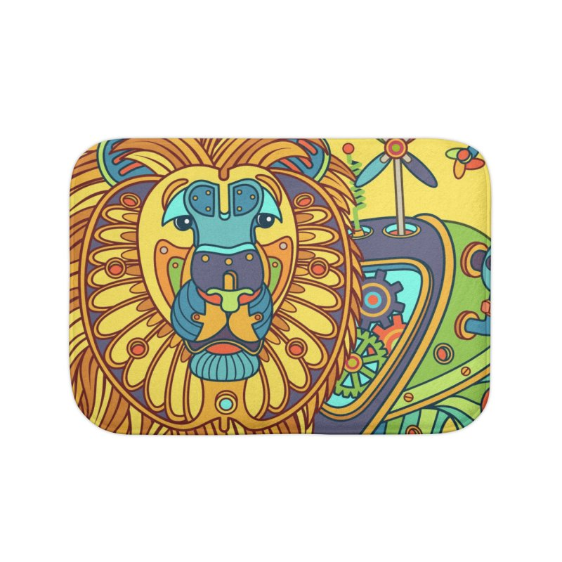 Lion, cool art from the AlphaPod Collection Home Bath Mat by AlphaPod