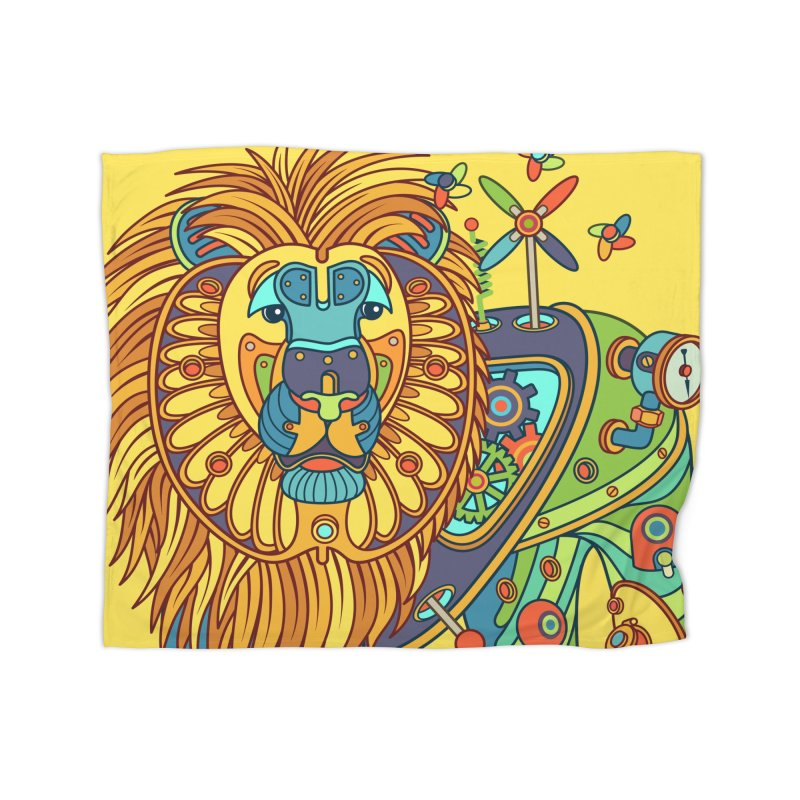Lion, cool wall art for kids and adults alike Home Blanket by AlphaPod