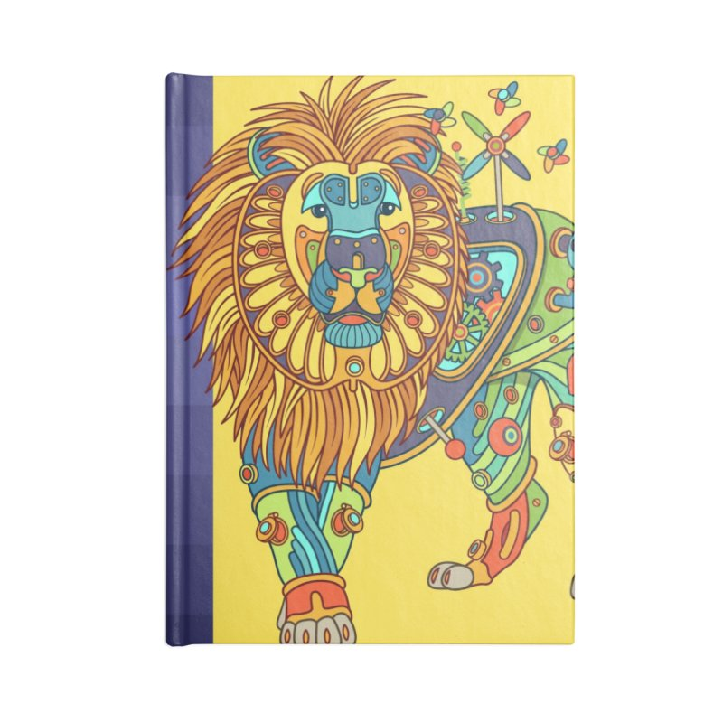 Lion, cool art from the AlphaPod Collection Accessories Notebook by AlphaPod