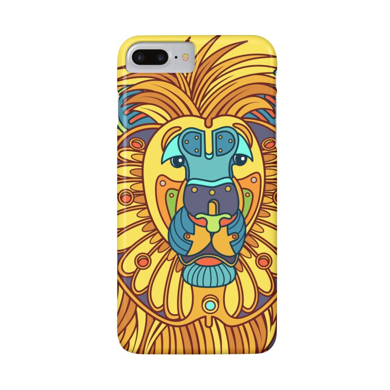 Lion, cool art from the AlphaPod Collection Accessories Phone Case by AlphaPod