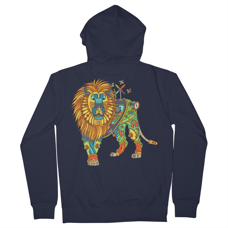 Lion, cool art from the AlphaPod Collection Women's Zip-Up Hoody by AlphaPod