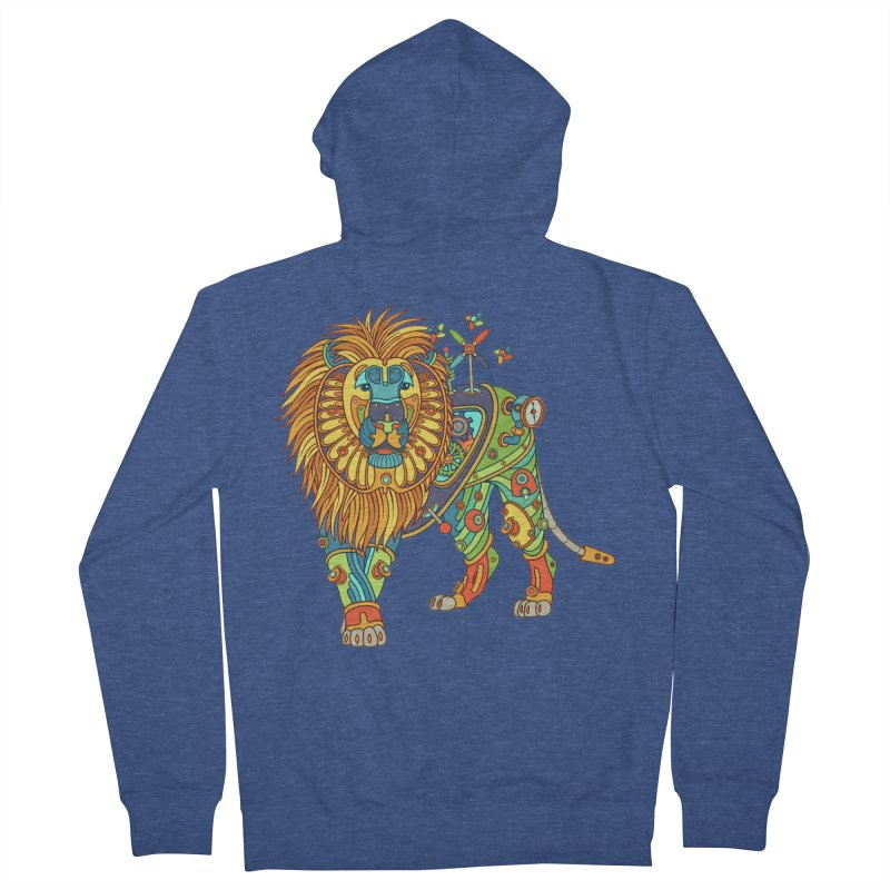 Lion, cool art from the AlphaPod Collection Men's Zip-Up Hoody by AlphaPod