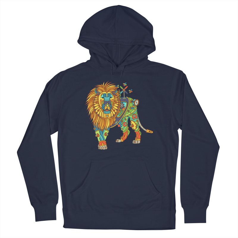 Lion, cool art from the AlphaPod Collection Men's Pullover Hoody by AlphaPod