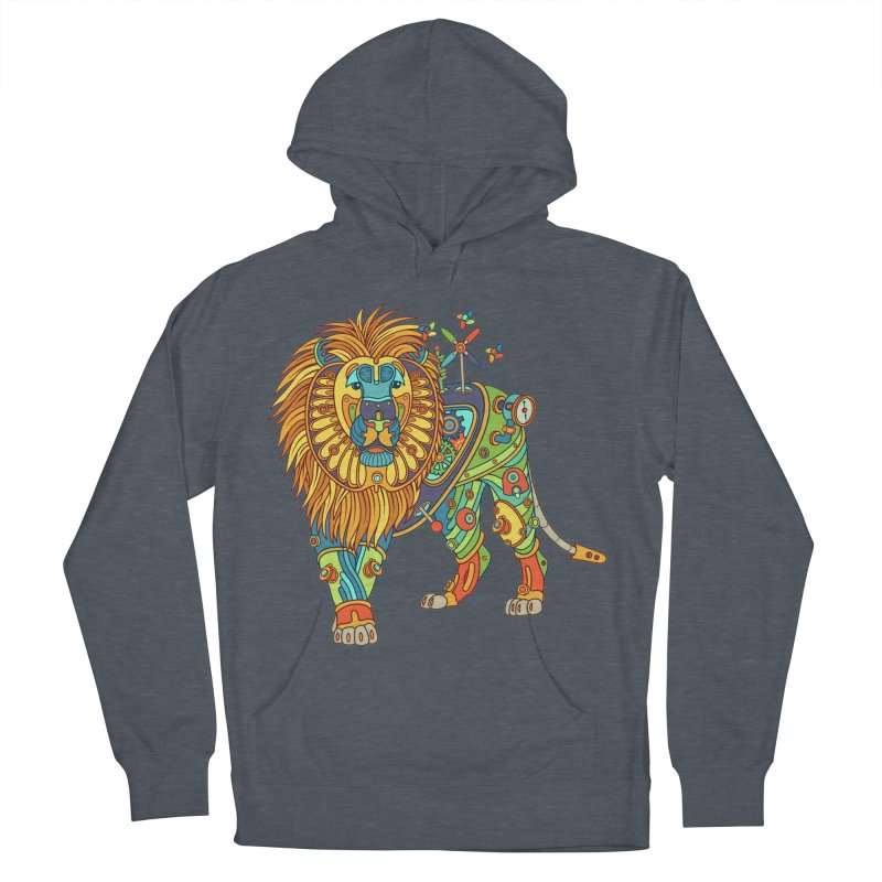 Lion, cool art from the AlphaPod Collection Women's French Terry Pullover Hoody by AlphaPod