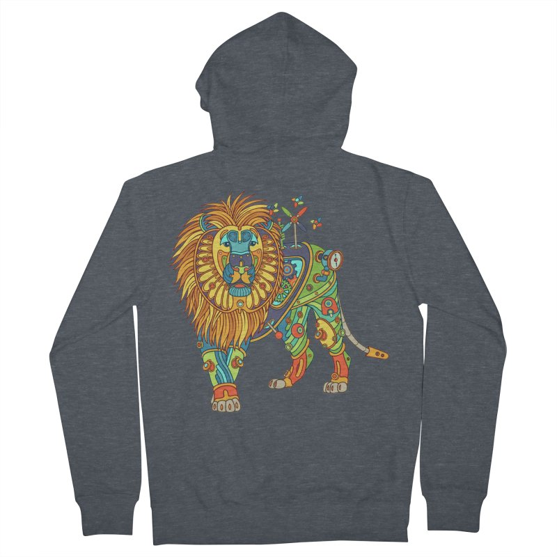 Lion, cool wall art for kids and adults alike Men's Zip-Up Hoody by AlphaPod