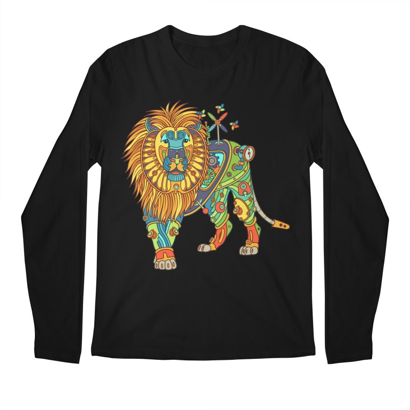 Lion, cool wall art for kids and adults alike Men's Longsleeve T-Shirt by AlphaPod