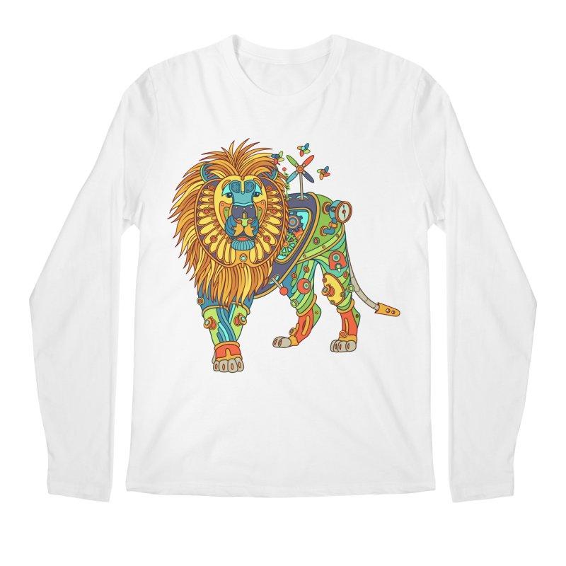 Lion, cool art from the AlphaPod Collection Men's Regular Longsleeve T-Shirt by AlphaPod
