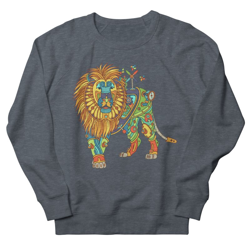 Lion, cool art from the AlphaPod Collection Women's French Terry Sweatshirt by AlphaPod