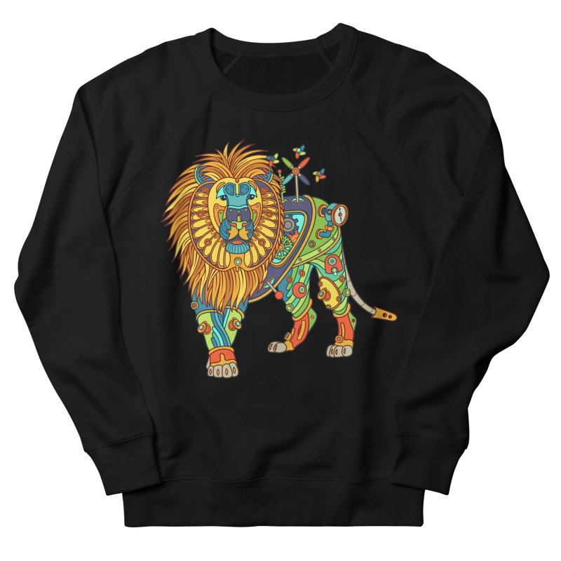 Lion, cool art from the AlphaPod Collection Men's French Terry Sweatshirt by AlphaPod