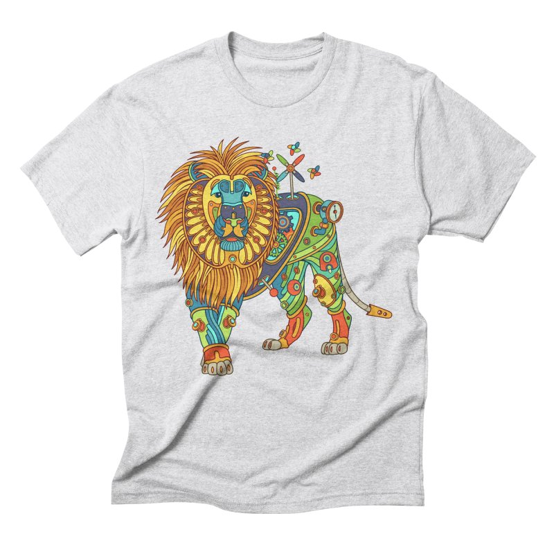 Lion, cool wall art for kids and adults alike Men's Triblend T-shirt by AlphaPod