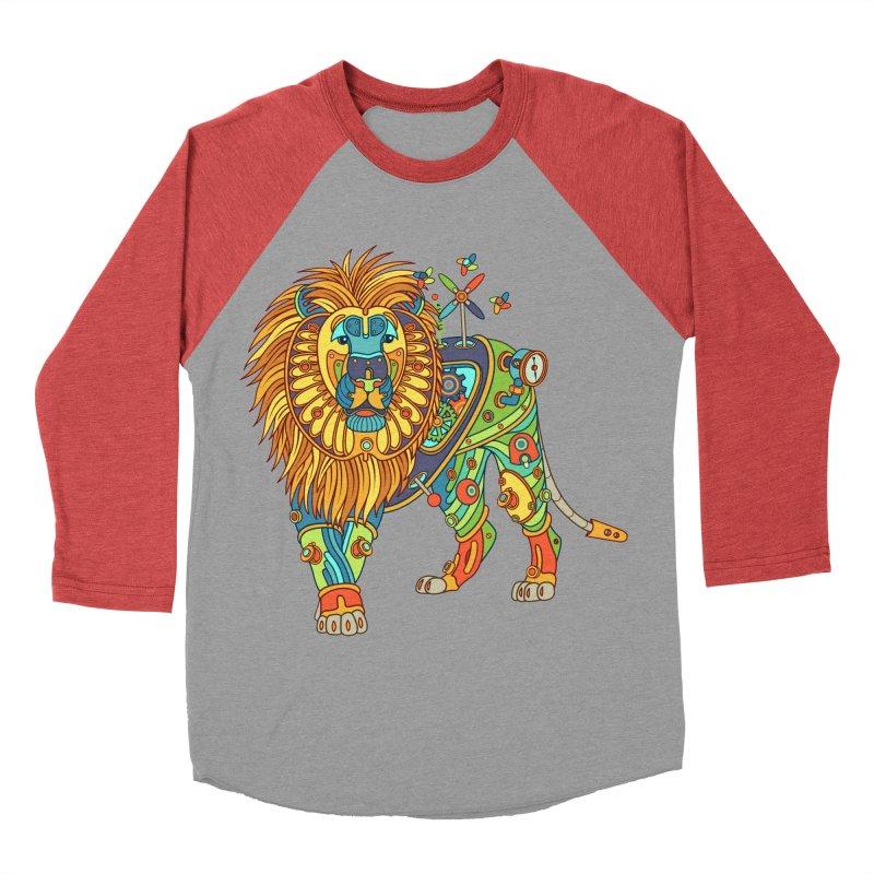 Lion, cool art from the AlphaPod Collection Women's Baseball Triblend T-Shirt by AlphaPod