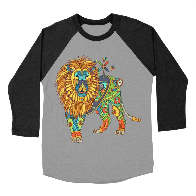 Lion, cool art from the AlphaPod Collection Women's Baseball Triblend Longsleeve T-Shirt by AlphaPod