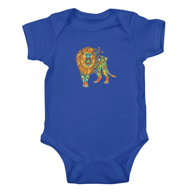 Lion, cool art from the AlphaPod Collection Kids Baby Bodysuit by AlphaPod