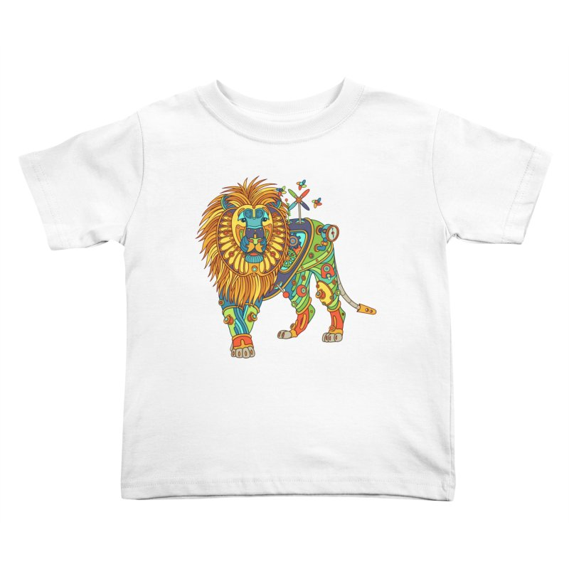 Lion, cool art from the AlphaPod Collection Kids Toddler T-Shirt by AlphaPod