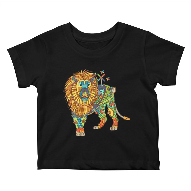Lion, cool wall art for kids and adults alike Kids Baby T-Shirt by AlphaPod