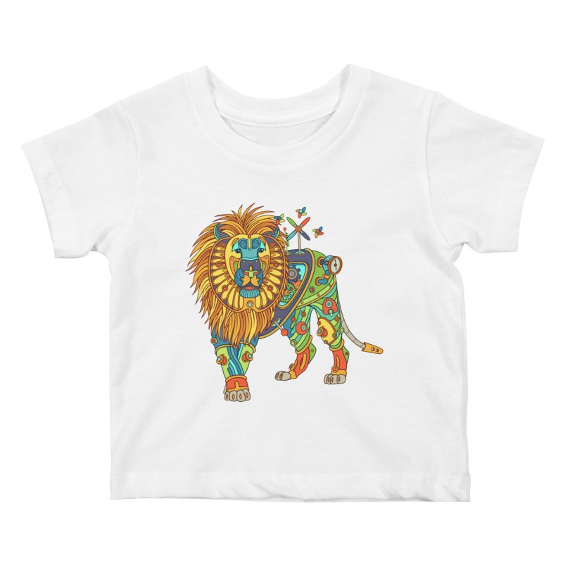 Lion, cool art from the AlphaPod Collection Kids Baby T-Shirt by AlphaPod