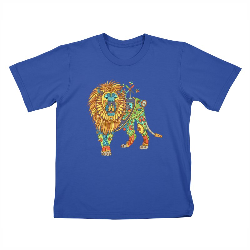 Lion, cool art from the AlphaPod Collection Kids T-Shirt by AlphaPod